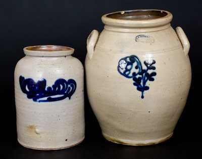 Lot of Two: SMITH & DAY / NORWALK, CT amd A. E. SMITH / PECK'S SLIP, NY Stoneware Jars