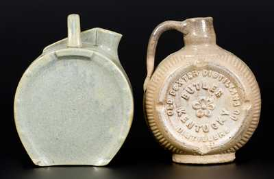 Lot of Two: Molded Stoneware Canteens