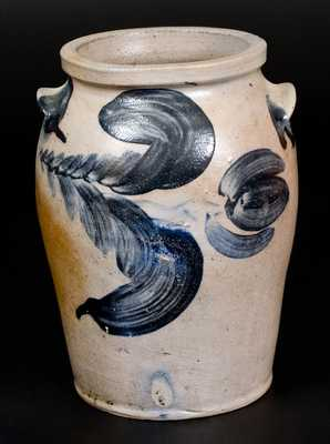 1 Gal. Baltimore Stoneware Jar w/ Floral Decoration, circa 1830