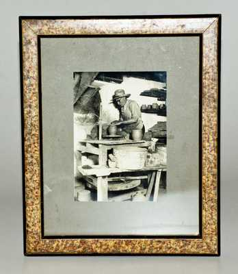 Unusual Original Stoneware Photograph Depicting Jacob Medinger, Montgomery County, PA