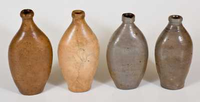 Lot of Four: Stoneware Flasks, early 19th century