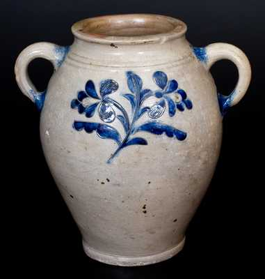 Eighteenth Century Manhattan Stoneware with Elaborate Incised Designs