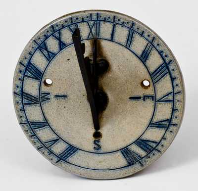 Stoneware Sundial, probably Remmey Family, Philadelphia