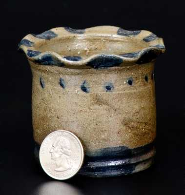 Miniature Stoneware Flowerpot attrib. to Charles F. Decker's Keystone Pottery, Chucky Valley, Tennessee