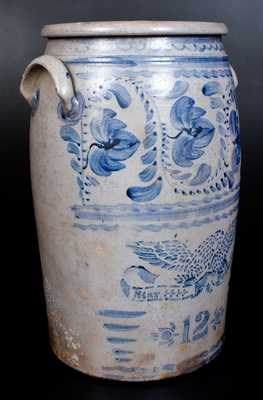 Fine 12 Gal. STAR POTTERY (Greensboro, PA) Stoneware Eagle Jar