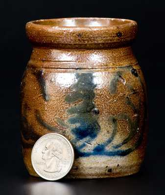 Miniature Stoneware Jar with Slip-Trailed Decoration, possibly Charlestown, Massachusetts