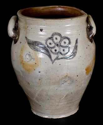 Rare Incised Stoneware Jar, attrib. Crolius Family, New York City, circa 1800