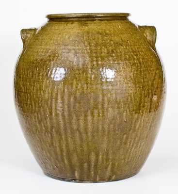 North Carolina Ten-Gallon Stoneware Jar, Impressed JCM, possibly Daniel Seagle, Lincoln County, NC