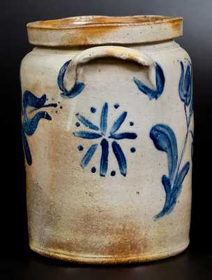 Very Fine JOHN BELL / WAYNESBORO 2 Gal. Stoneware Jar with Elaborate Decoration