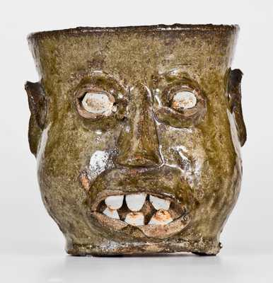 Edgefield District, SC Stoneware Face Cup
