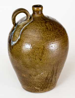 Daniel Seagle, Vale, Lincoln County, NC Five-Gallon Stoneware Jug, Stamped D S