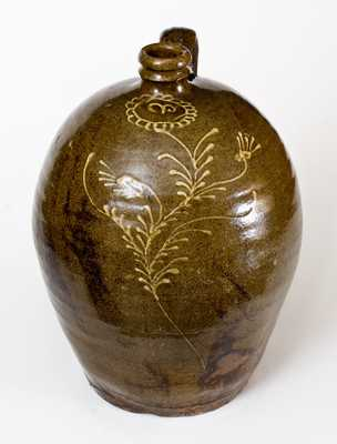 Alkaline-Glazed Stoneware Jug attrib. Collin Rhodes, Shaw's Creek, Edgefield District, SC, c1850