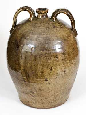 Monumental 7 Gal. Double-Handled Stoneware Jug, Crawford County, Georgia, circa 1840s