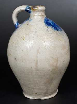 2 Gal. Stoneware Jug with Cobalt Decoration, probably Albany, NY, early 19th century