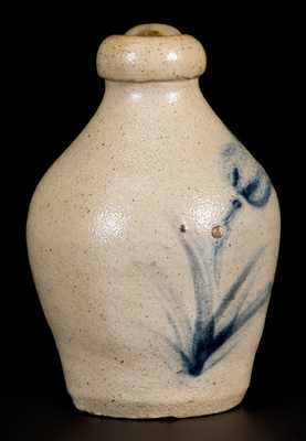 Miniature Stoneware Jug with Floral Decoration, New York State, circa 1860