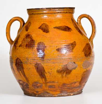 Large-Sized Redware Jar with Manganese Decoration, possibly Cain Pottery, East Tennessee