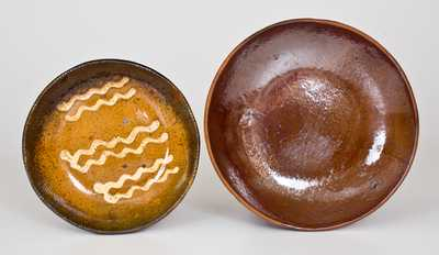 Two Pennsylvania Redware Dishes, fourth quarter 19th century.
