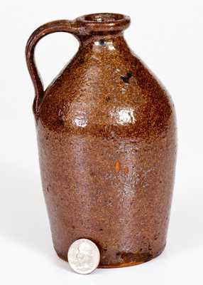 Small-Sized New England Redware Jug