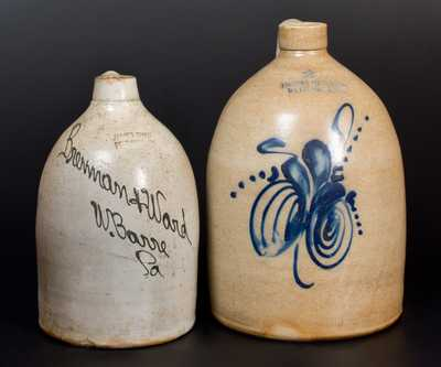 Two Slip-Trailed Stoneware Jugs