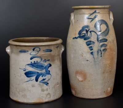 Two Pieces of Midwestern Stoneware, circa 1850-1880