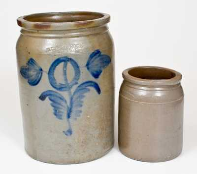 Two Pieces of Milburn Stoneware, Alexandria, Virginia, third quarter 19th century