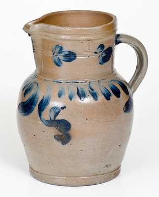 1 Gal. Pennsylvania Stoneware Pitcher with Floral Decoration