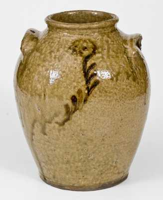 Fine 2 Gal. Early Edgefield, SC Stoneware Jar with Slip