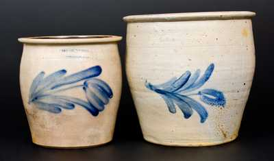 Lot of Two: Bloomsburg and Harrisburg, Pennsylvania Stoneware Cream Jars