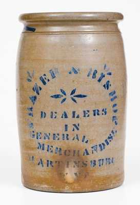 Frazer & Bishop / Martinsburg, WV Stoneware Jar