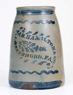 JAS. HAMILTON & CO. / GREENSBORO, PA Stoneware Canning Jar