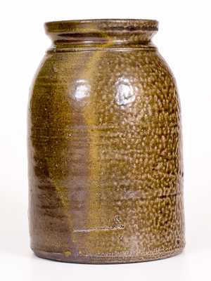 Very Rare W. C. ROBERTSON / Barbers Creek, P.O. Georgia Stoneware Jar