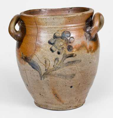 2 Gal. Stoneware Jar with Incised Decoration, Manhattan, early 19th century