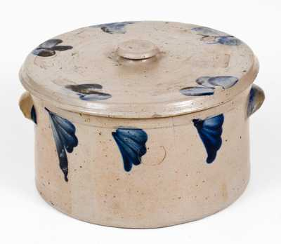P. HERRMANN Baltimore Stoneware Butter Crock with Lid