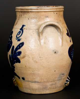 Extremely Rare I. H. WANDS / OLEAN, NY Stoneware Fish Water Cooler w/ Genesee River Inscription