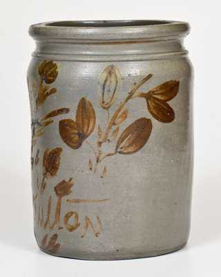 1 Gal. G. N. Fulton (Alleghany County, Virginia) Stoneware Jar with Profuse Manganese Decoration
