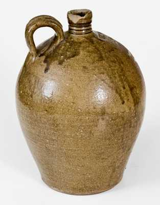 Rare 2 Gal. JCM Stoneware Jug, related to Daniel Seagle, Catawba Valley, NC, c1840