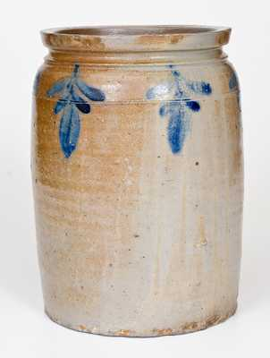 B. C. MILBURN (Alexandria, VA) Stoneware Jar with Floral Decoration
