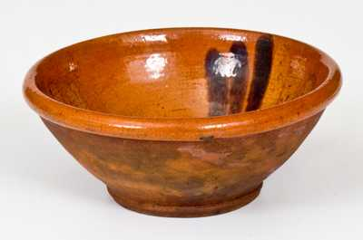 Very Rare Small-Sized 18th Century Redware Bowl, North Carolina or possibly Philadelphia