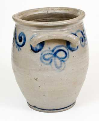 Outstanding 18th Century Abraham Mead, Greenwich, CT Stoneware Jar