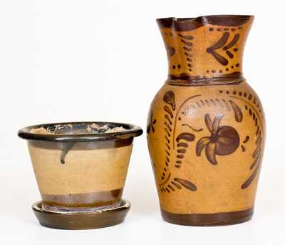 Two Pieces of American Tanware, circa 1885