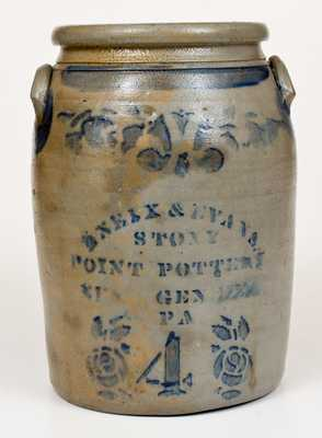 Scarce ENEIX & EVANS. / STONY / POINT POTTERY / NEW GENEVA / PA Jar