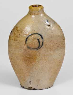 Early Cobalt-Decorated Stoneware Flask, Northeastern U.S., 18th or early 19th century