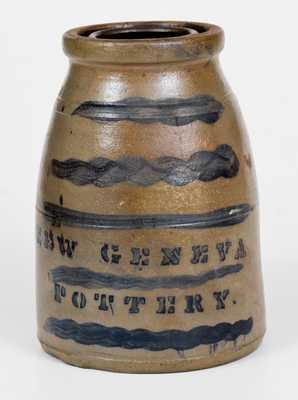 NEW GENEVA POTTERY Stoneware Wax Sealer with Striped Decoration
