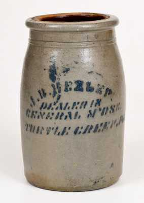 Stoneware Canning Jar with TURTLE CREEK, PA Stenciled Advertising