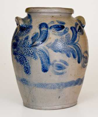1 1/2 Gal. Baltimore Stoneware Jar with Floral Decoration, circa 1830s