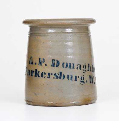 A. P. Donaghho / Parkersburg, W. Va Stoneware Canning Jar