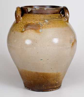 3 Gal. BOSTON Stoneware Jar with Iron-Oxide Decoration, early 19th century