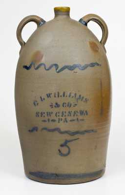 C. L. WILLIAMS & CO. / NEW GENEVA, PA Double-Handled Stoneware Jug