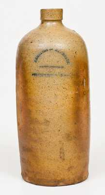 Very Unusual PEROXIDE OF HYDROGEN (NYC) Large-Sized Stoneware Bottle