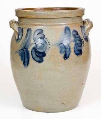 4 Gal. JOHN BELL / WAYNESBORO Stoneware Jar with Floral Decoration